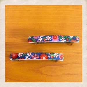 Pair of Vintage 1960's French Barrettes, Deadstock